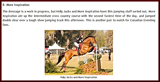 Holly Jacks and More Inspiration 2nd Place win at Red Hills 2013